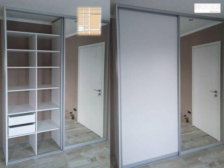 Vestavná skříň se zrcadlem na jednom křídle v předsíni. Práce nám jde od ruky. #builtin #wardrobe #mirror #shelf #modern #design #custommade