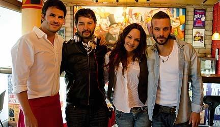 Ricardo Gabrielli,Juan Pablo Raba, Carolina Gómez y Diego Cadavid