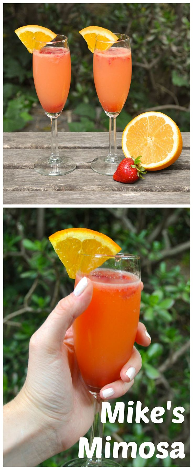 Mike's Mimosa - Mimosas made with Mike's Hard Strawberry Lemonade