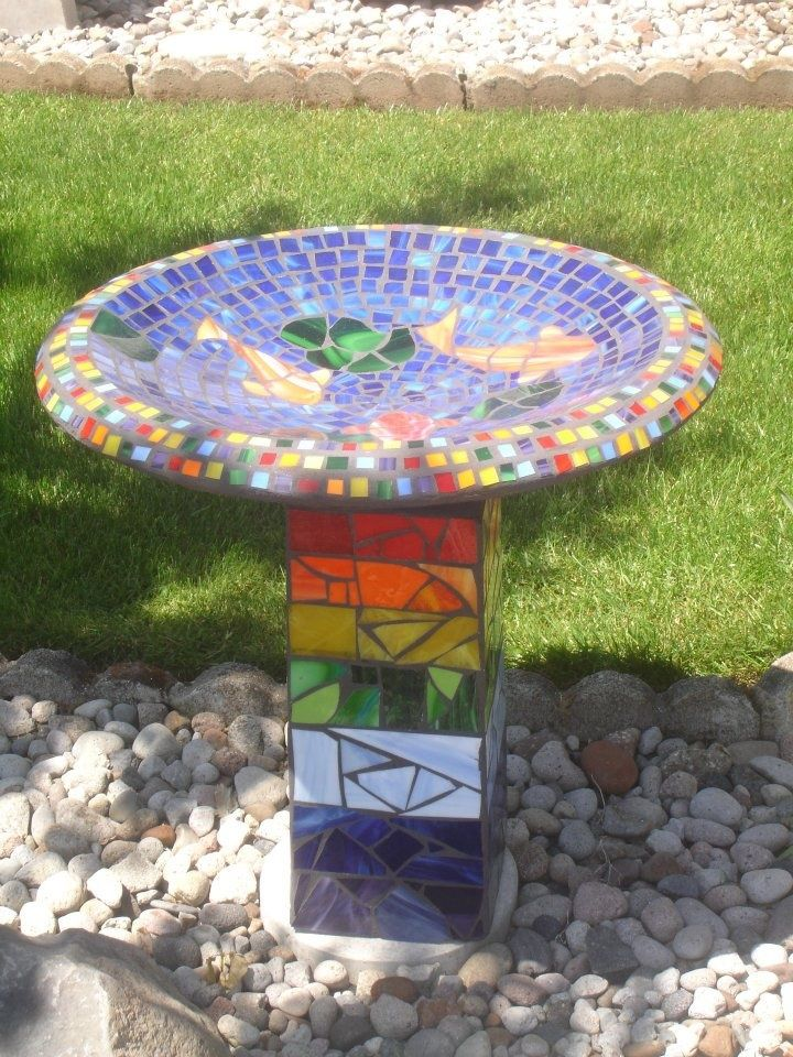 147 best mosaic birdbaths images on pinterest mosaic art