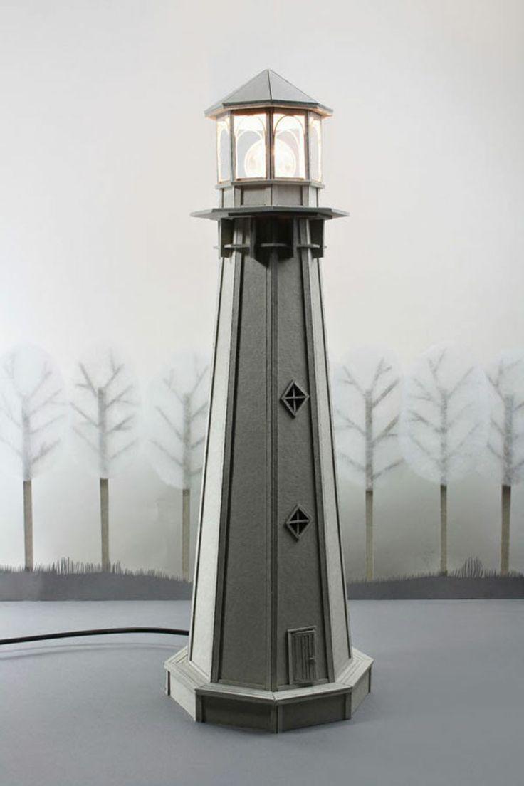 Cottage lighthouse lamp 3 colors - Cardboard Lighthouse Lamp An Enchanting Bedside Por Lifeincardboard