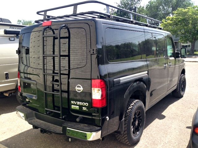 Aluminum Off Road Roof Rack for a Nissan NV | Aluminess ...