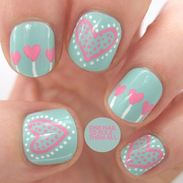 Cute And Simple Nail Art For Short Nails