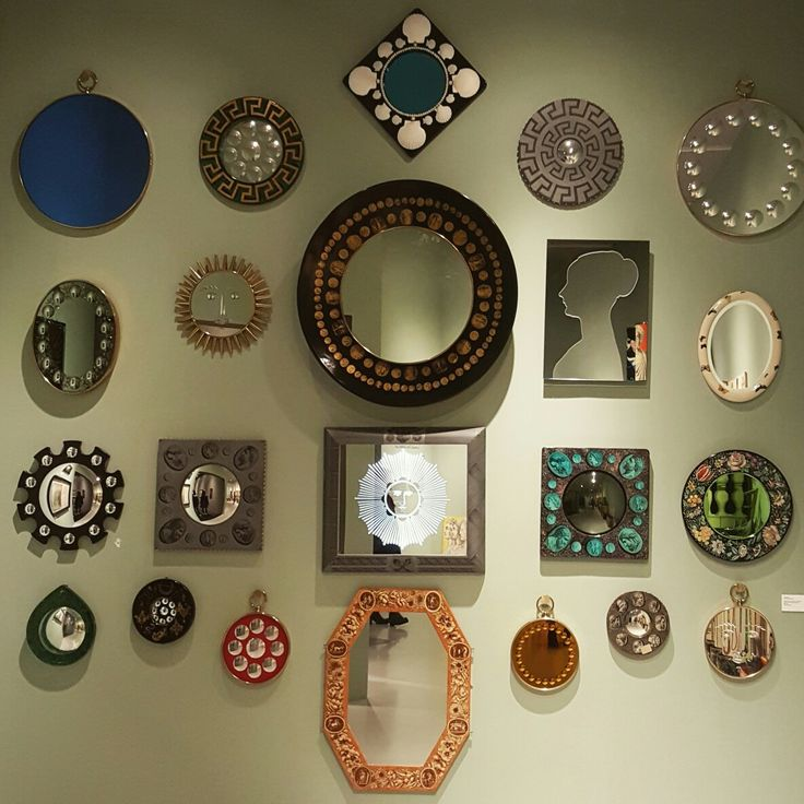 Italian artist 'Piero Fornasetti' exhibition [Mirrors, from 1950s to 2000s, by Piero and Barnaba Fornasetti]