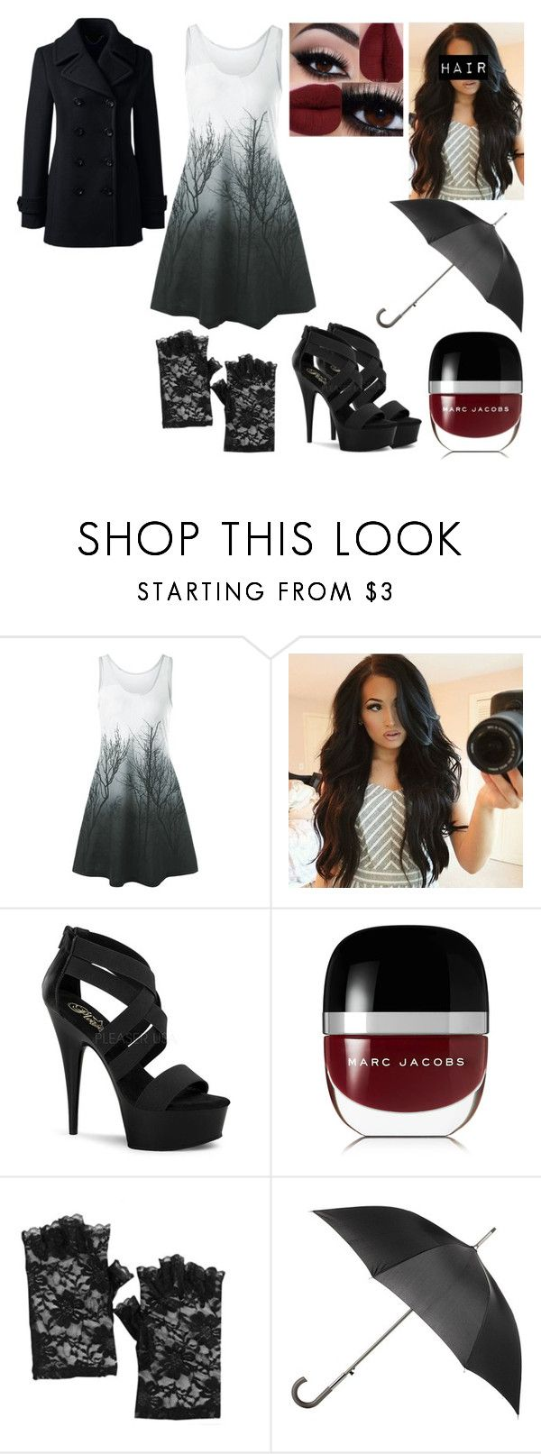 """""""Untitled #1092"""" by nerdynerdy on Polyvore featuring Pleaser, Marc Jacobs, Totes and Lands' End"""