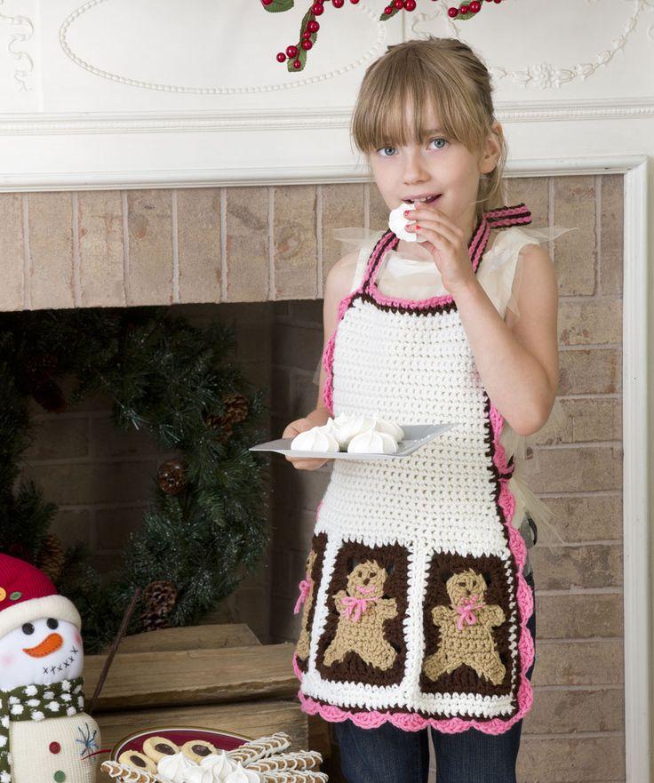 Gingerbread Man Apron Crochet Pattern  #crochet  #christmas  #holiday