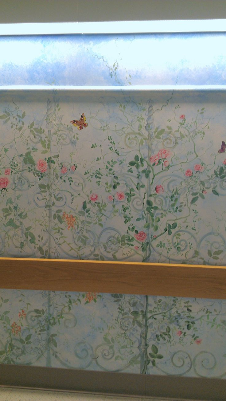 Pretty mural at UNC Hospital