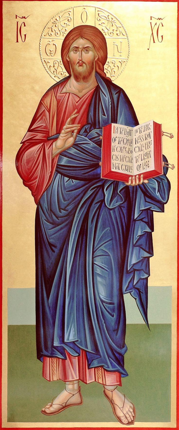 Jesus Christ, orthodox icon, hand painted, byzantine art, Greek icon, Jesus icon by Georgi Chimev