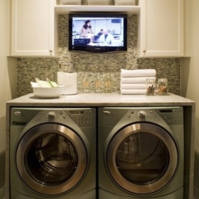 Small space laundry room ideas page 2 of 4 laundry laundry rooms and small spaces - Small space washing machines set ...