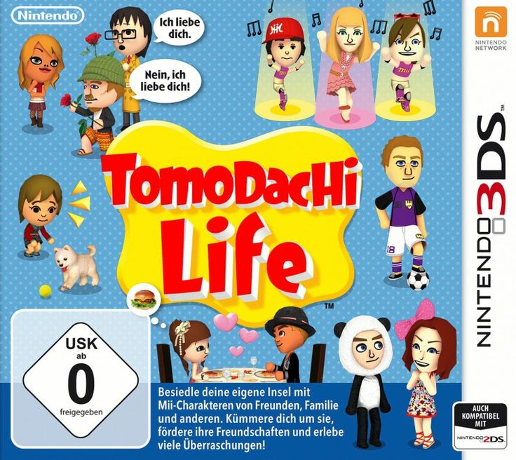 Tomodachi Life Games Nintendo 3DS Simulation