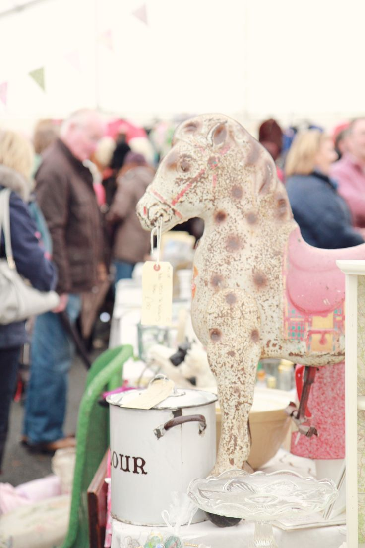 Hello horsey at Hay Does Vintage in Hay-on-Wye.