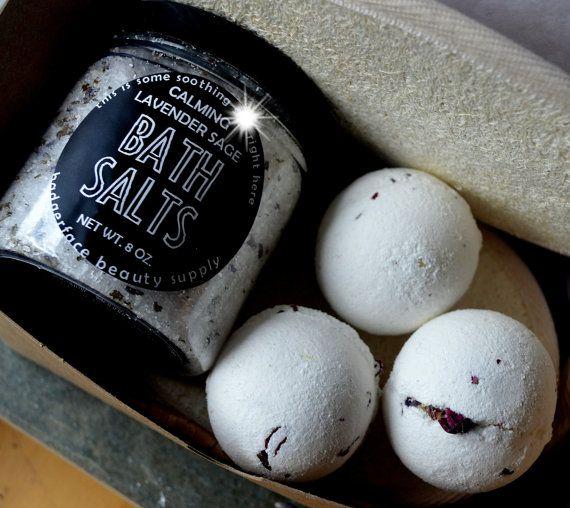 Mom Gift. Bath Bomb Gift Set. Bath Gift Set. by badgerfacebeauty