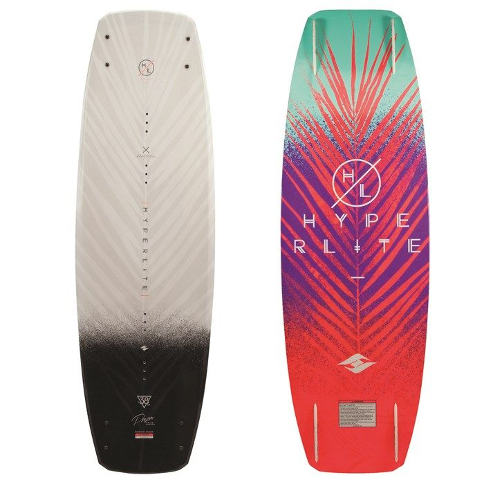 Tailored specific to women's riding needs. The Hyperlite Prizm female specific #wakeboard will have you throwing flips by the end of the season.