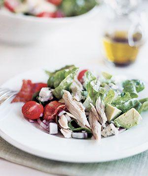 Cobb Salad With Balsamic VinaigretteChicken Salad, Cobb Salad, Balsamic Vinaigrette, Recipe Ideas, 10 Recipe, Chicken Mak Dinner, Rotisserie Chicken, Healthy Food, Real Simple