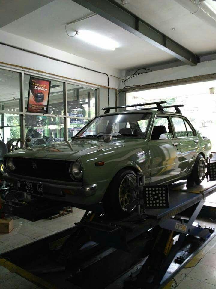 Finally its done! 1975 Toyota Corolla KE30 #Restoration #Bandung #Indonesia #Retro #KE30 #Corolla #Classic #Stance #StanceNation #Lowered