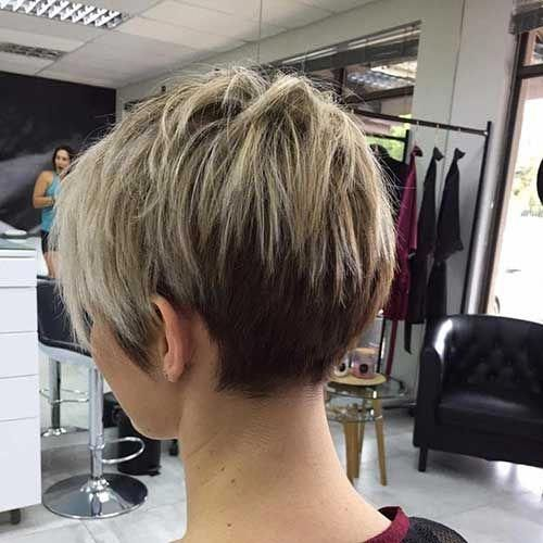 Short Pixie Haircuts Front And Back View Shorthairstylesforwomen Front Haircuts Pixie Short S In 2020 Short Hair Back View Short Hair Back Cool Short Hairstyles