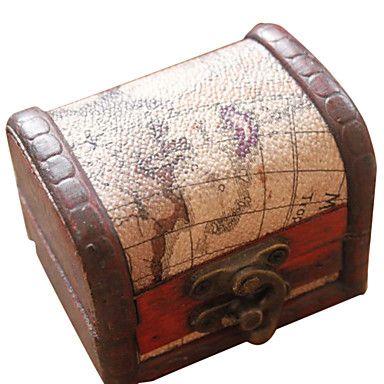 gåvor brudtärna gåva nautisk kartdesign trä skrivbordet förvarings / smycken innehavaren (slumpmässig design) - SEK Kr. 65