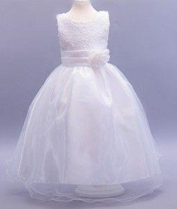 White Sequin Flower Girl Dress  LP55