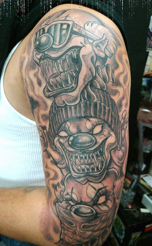 The Chicano tattoos represent this very kind of tattoos associated with rebellion. Description from creativefan.com. I searched for this on bing.com/images