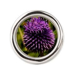 Purple Thistle Round Ring