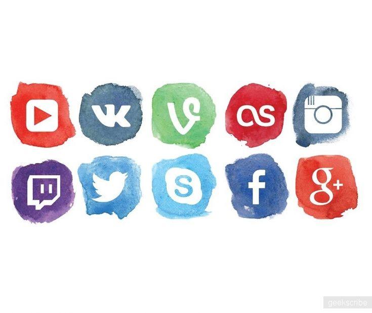 Брашевые иконки социалок / Иконки / Yagiro - сайт о дизайне и для дизайнеров
