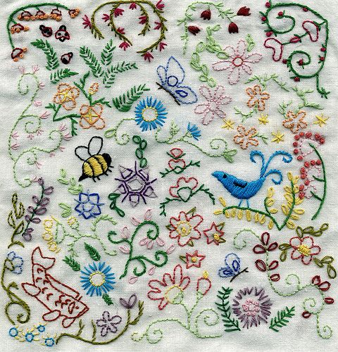 "Aimee Ray free download.  This ""doodle stitching"" looks so fun!"