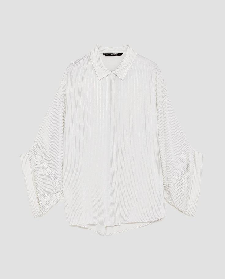 Image 8 of STRIPED FLOWING BLOUSE from Zara