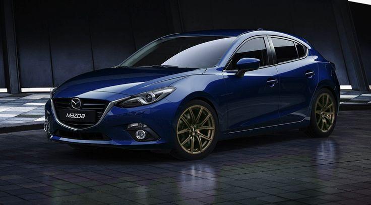 Beautiful crystal blue 2014 Mazda 3...my next car hopefully