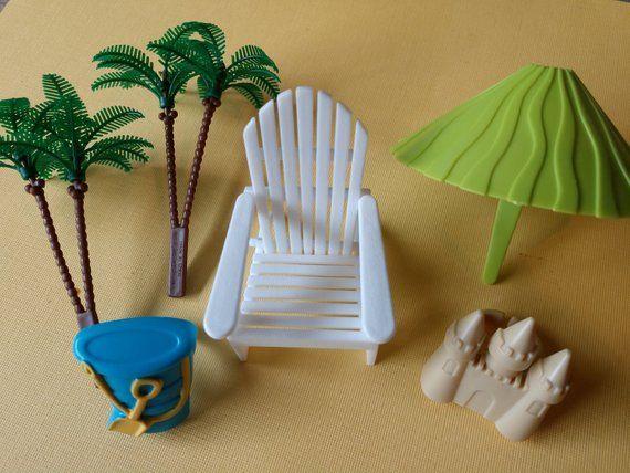 Super Cute Beach Cake Decorating Set 6 Piece Set Includes