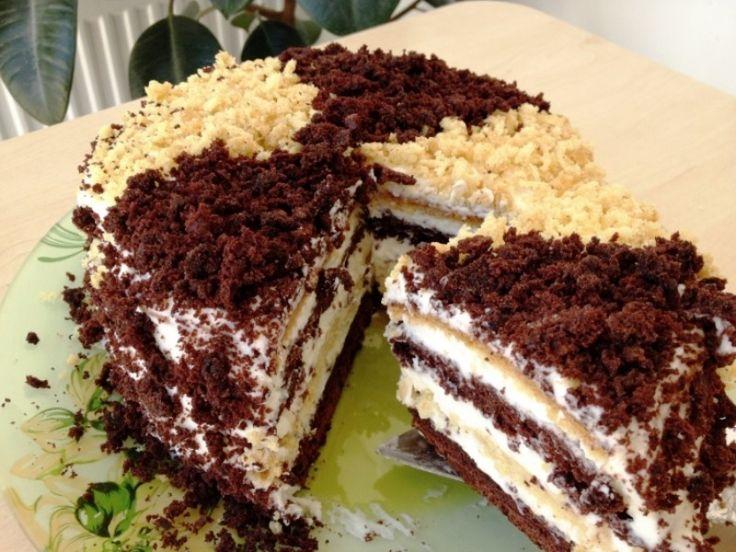 Торт сметанник на кефире с заварным кремом: подробный рецепт с фото