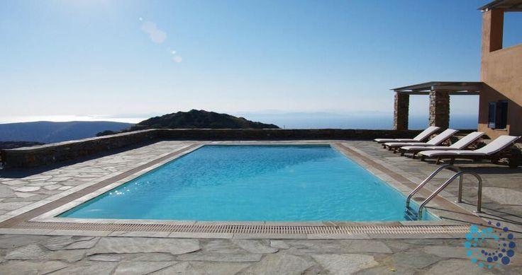 "Welcome to the ""Villa Kyparissi"" in Kea, Greece. Your #luxury #villa #rent #greece #greek #island #vacances #grece #mygreekvilla #alouer"