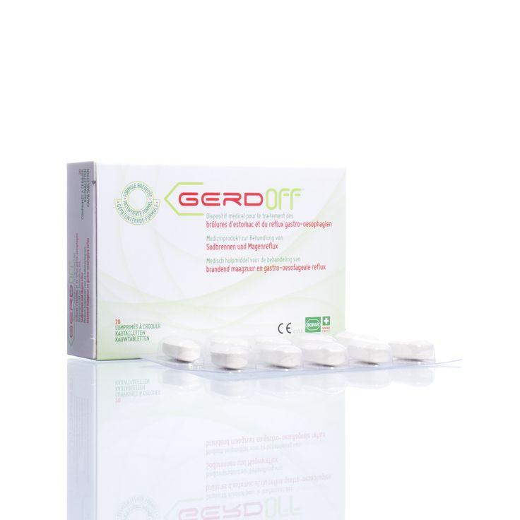 GERDoff | Medisch hulpmiddel voor de behandeling van brandend maagzuur en gastro-oesofageale reflux.