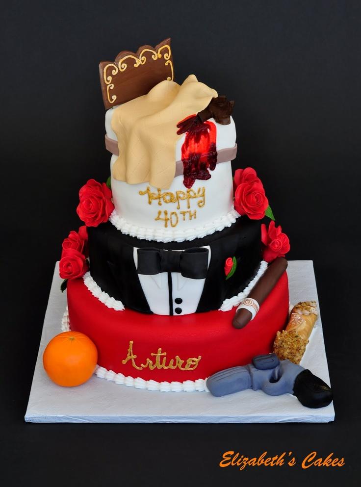 86 Best Godfather Party Images On Pinterest The Godfather Theme - Godfather Wedding Cake