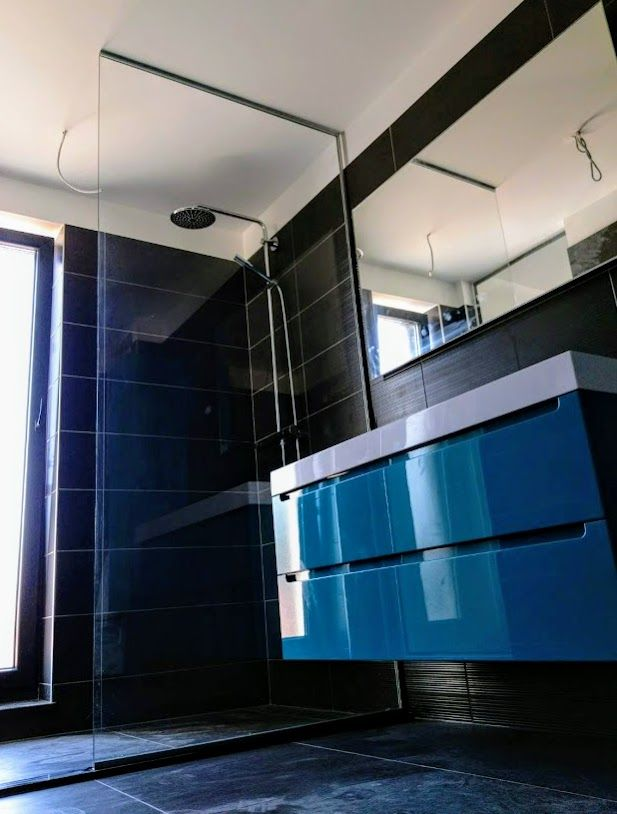 Bathroom ideas Modern bathroom Glass shower Fixed glass screen - Bathroom Glass