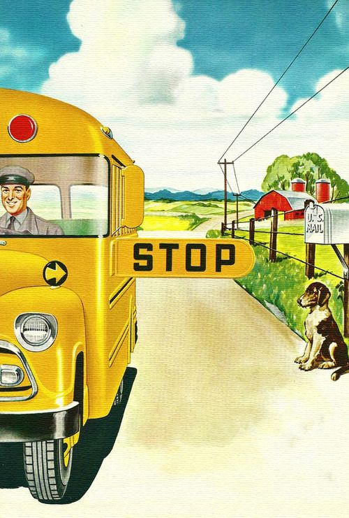 School Bus - it's how we all got to school back in the one-car-per-family days.