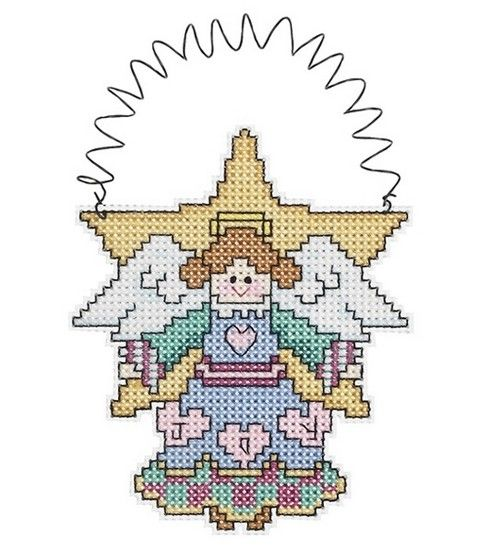Janlynn Holiday Wizzers Angel Cntd X-Stitch