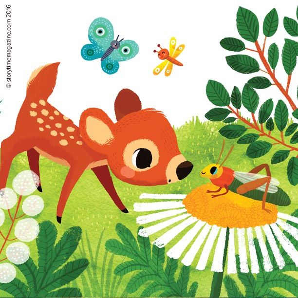 More adorable Bambi from our extract in Storytime Issue 18. Art by Miriam Bos (http://miriambos.com) ~ STORYTIMEMAGAZINE.COM