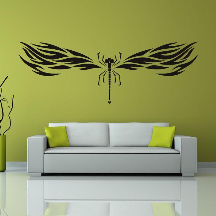 Stammes-Libelle Insekt Wandaufkleber Wandtattoo Kunst