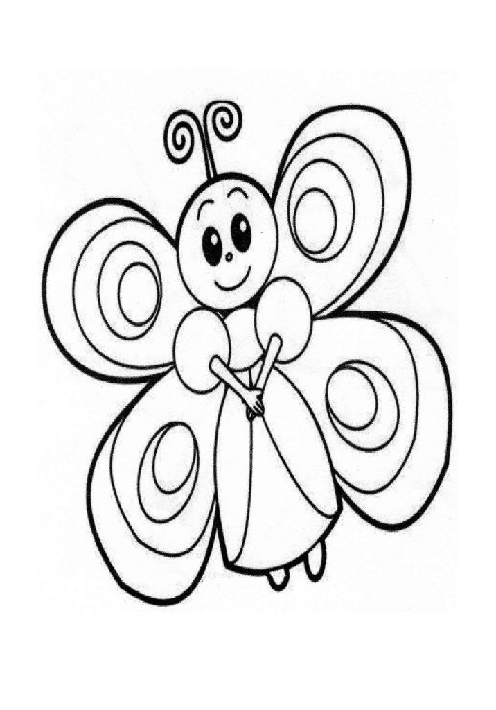 Cartoon Butterfly Coloring Page Youngandtae Com Butterfly Coloring Page Flower Coloring Pages Animal Coloring Pages