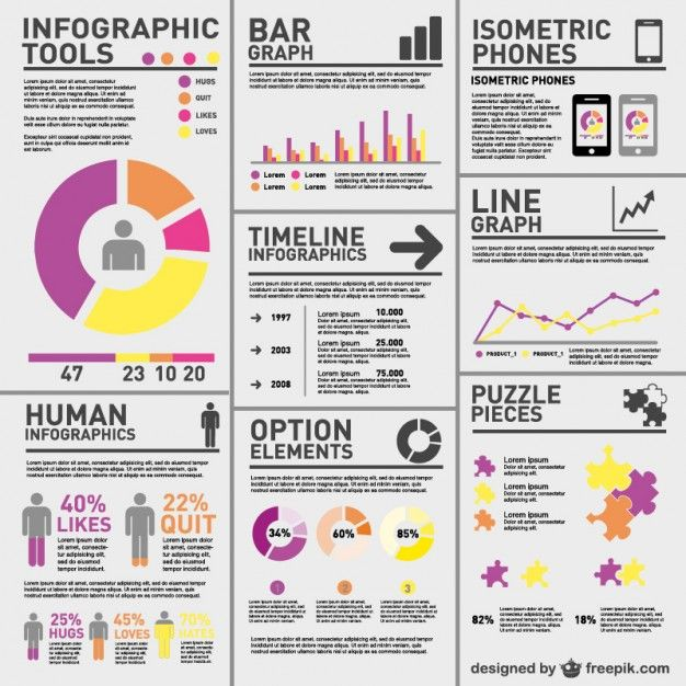 Complex statistics infographic  Free Vector