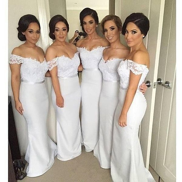 Prom Dresses Bridesmaid Dress White