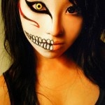 Asian girl doing day of the dead makeup!  Yay!