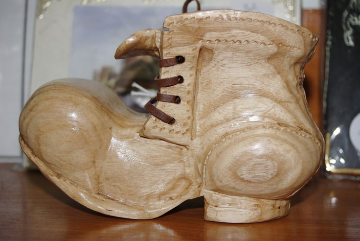 Small, hand carved wooden boot, so cute it's ridiculous :) (Nov 2013)