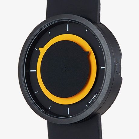 3012 Watch by HYGGE – Black/Yellow on MONOQI
