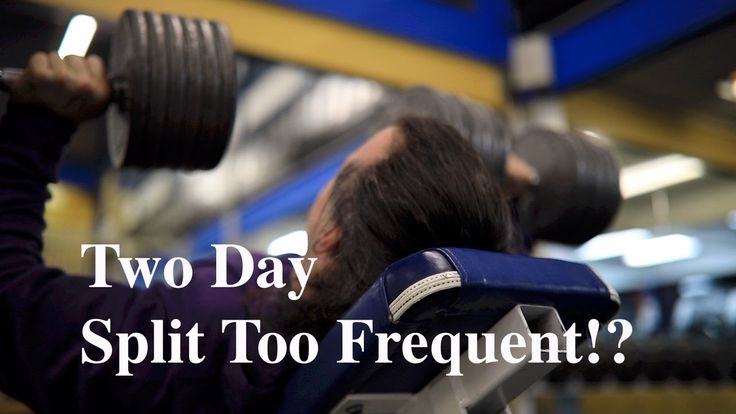 Is a Two Day Split Too Frequent for a Natural Bodybuilding Workout?
