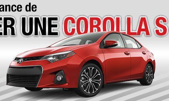 Gagnez une voiture Toyota de Corolla! - Quebec echantillons gratuits