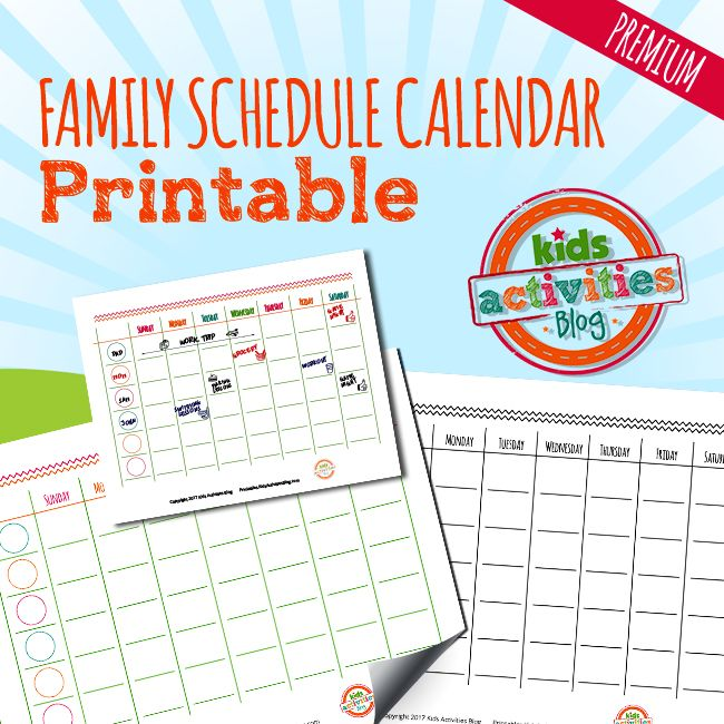 Take control of your family's schedules this year with the printable Weekly Family Schedule Calendar that makes scheduling a breeze!