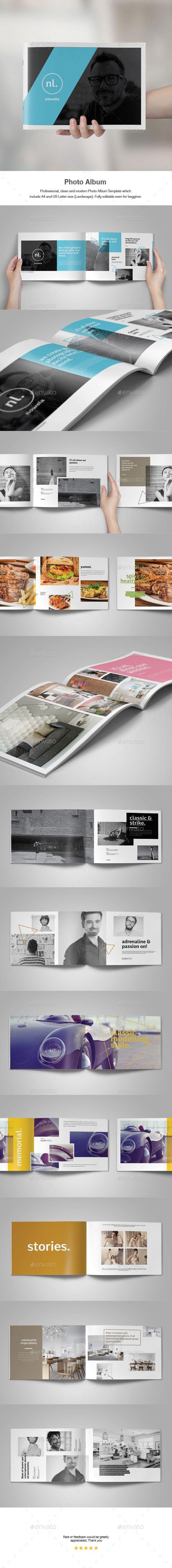Photo Album Template  — InDesign Template #decor #portfolio • Download ➝ https://graphicriver.net/item/photo-album-template/18240535?ref=pxcr