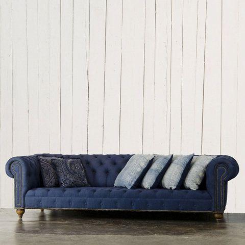 English Chesterfield Sofa   Furniture   RLH Collection   Ralph Lauren Home    RalphLaurenHome com. Best 25  Denim sofa ideas only on Pinterest   Light blue couches