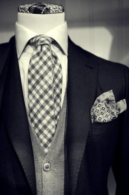 Vintage: black & grey suit